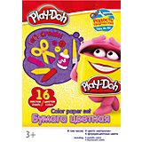 Цветная бумага 16 цветов, Play-Doh