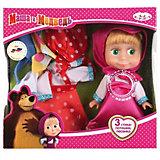"""Кукла Маша с 3 комплектами одежды, 15 см, со звуком, """"Маша и Медведь"""", Карапуз"""