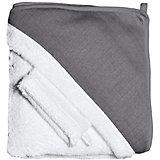 Махровое полотенце с уголком + варежка, Red Castle, белый