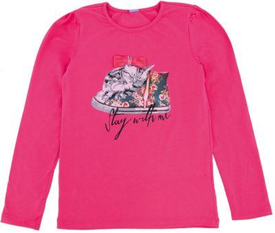 Футболка с длинным рукавом для девочки DAUBER - розовый