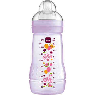 Weithals Flasche Easy Active Baby Bottle, PP, 270 ml, Silikonsauger, Mädchen