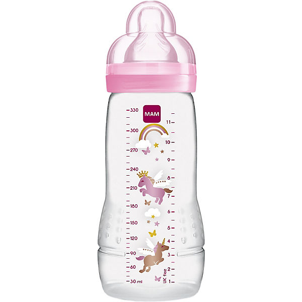 Weithals Flasche Easy Active Baby Bottle, PP, 330 ml, Silikonsauger, Mädchen
