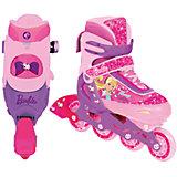Роликовые коньки, раздвижные, Barbie