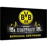 Leinwandbild BVB Signal Iduna Park bei Nacht, 100 x 70 cm