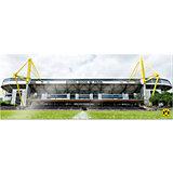 Wandbild BVB Signal Iduna Park bei Tag Panorama, Acryl, 200 x 75 cm