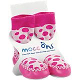 Mocc Ons, Hüttenschuhe, pink gepunktet