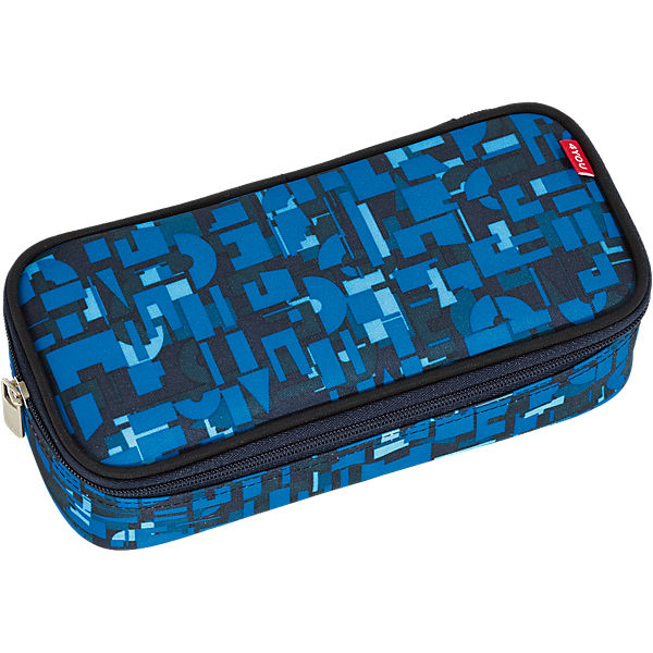 Pencil Case mit Geodreieck Geometric Blue