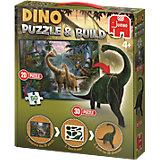 Dinosaurier Puzzle & Build 2D-3D - 50 Teile