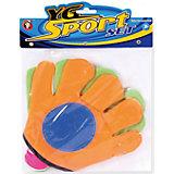 """Игра на открытом воздухе """"Мячеловка"""", с перчатками-липучками 24 см, YG Sport"""