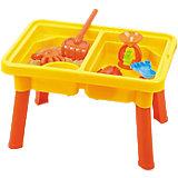"""Стол для игр с песком и водой """"Водяная круговерть"""", с крышкой, стулом и аксессурами, Hualian Toys"""