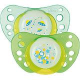 Schnuller Physio Air Lumi, Silikon, Gr.1, grün/grün, 2er Pack