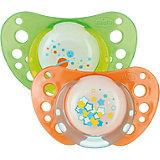 Schnuller Physio Air Lumi, Silikon, Gr.2, grün/orange, 2er Pack