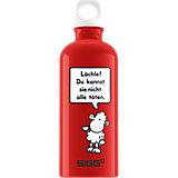 Alu-Trinkflasche Sheepworld Lächle!, 600 ml