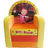 """Оранжевое раскладывающееся кресло-игрушка """"Маша и Медведь"""""""