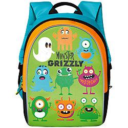 """Школьный рюкзак """"Monster Grizzly """", салатовый"""