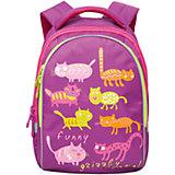 Grizzly Рюкзак школьный Funny cats, лиловый