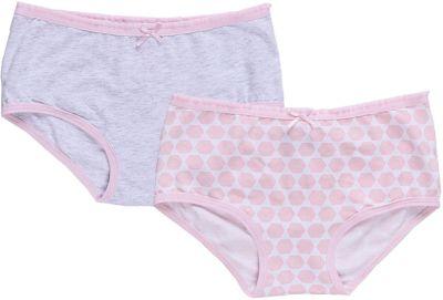 Трусы (2 шт) для девочки Sweet Berry - розовый/белый