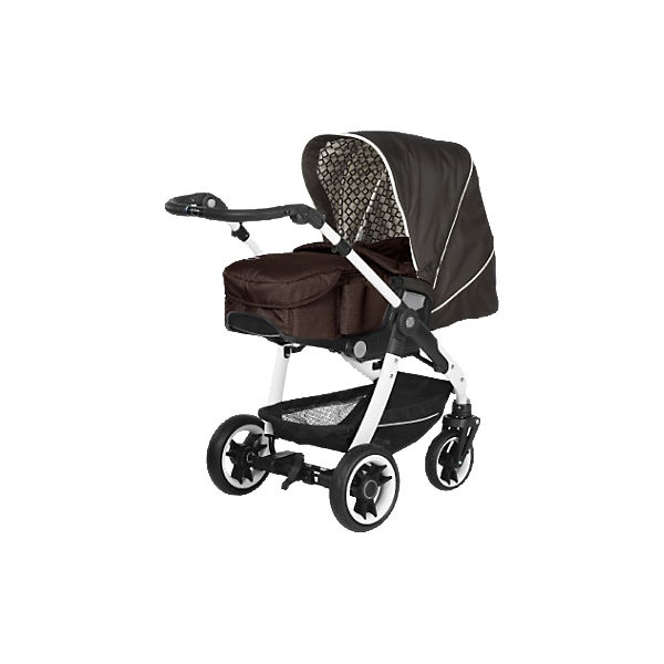 Kombi-Kinderwagen Cosmo V4 inkl. Softtragetasche, Sequential/ Seashell & Café, Gestell Pearl, Rad 3, 2016