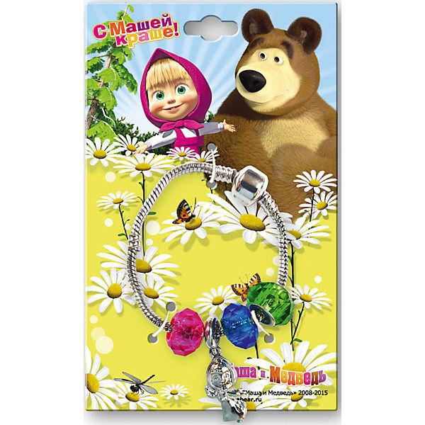 Браслет и  шармы Маша и медведь
