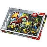 Puzzle - 100 Teile - Drachentreffen