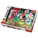 Puzzle 160 Teile - Minnie und Daisy beim Blumengießen