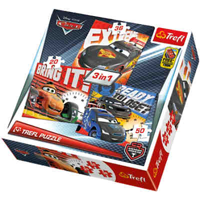 3in1 Puzzle - 20/36/50 Teile - Cars
