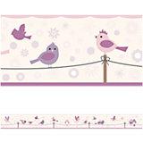 Bordüre Vögel & Blümchen, 450 cm