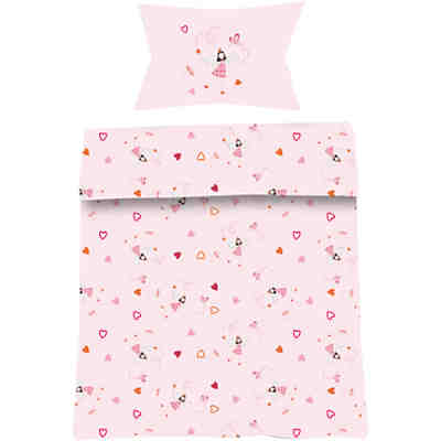 kinderbettw sche gute fee cretonne pink 135 x 200 cm. Black Bedroom Furniture Sets. Home Design Ideas
