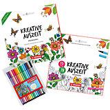 Malset Kreative Auszeit 2, inkl. Pen 68 Filzstifte & Malbuch