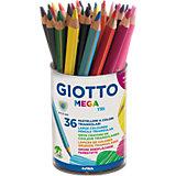 GIOTTO Mega Tri Buntstifte, 36 Farben