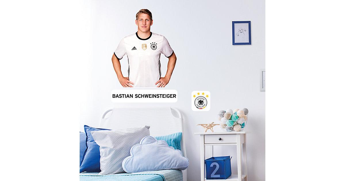 Wandsticker Bastian Schweinsteiger, 33 x 47 cm mehrfarbig