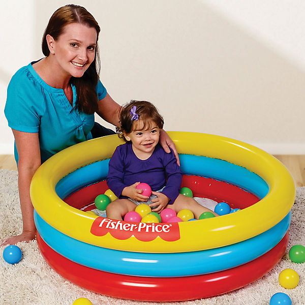 Надувной бассейн с 25 шариками, 88 л, Fisher Price, Bestway