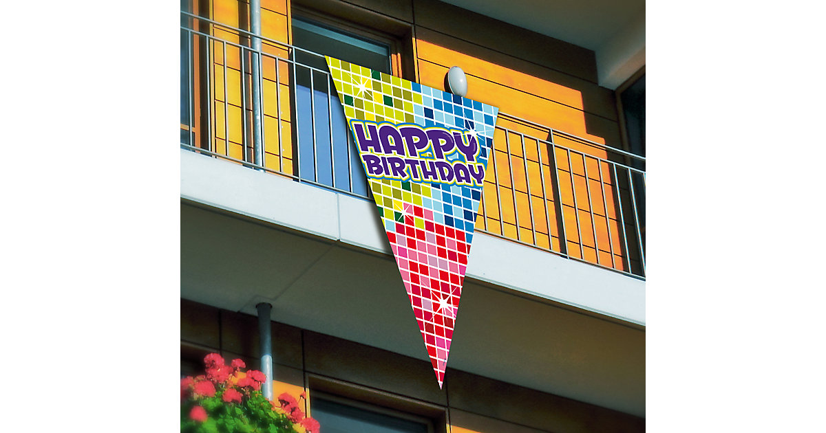 Mega Wimpel Happy Birthday