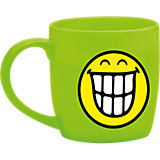 Smiley Tasse, grün