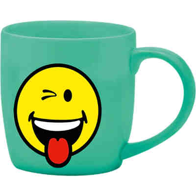 Smiley Tasse, blau