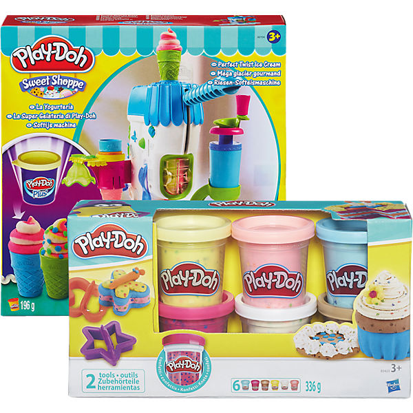 Set Play-Doh Riesen-Softeismaschine PLUS Play-Doh Konfettiknete 6er Pack