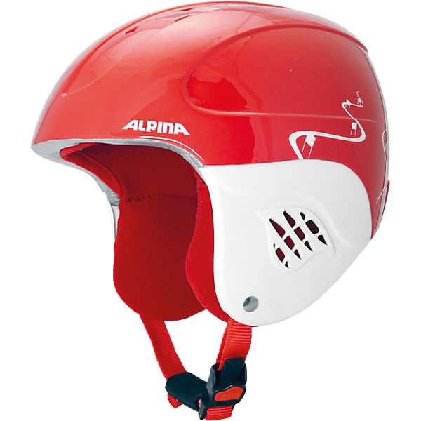 Skihelm Carat red-turns