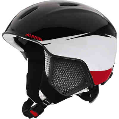 Skihelm Carat lx black-white-red