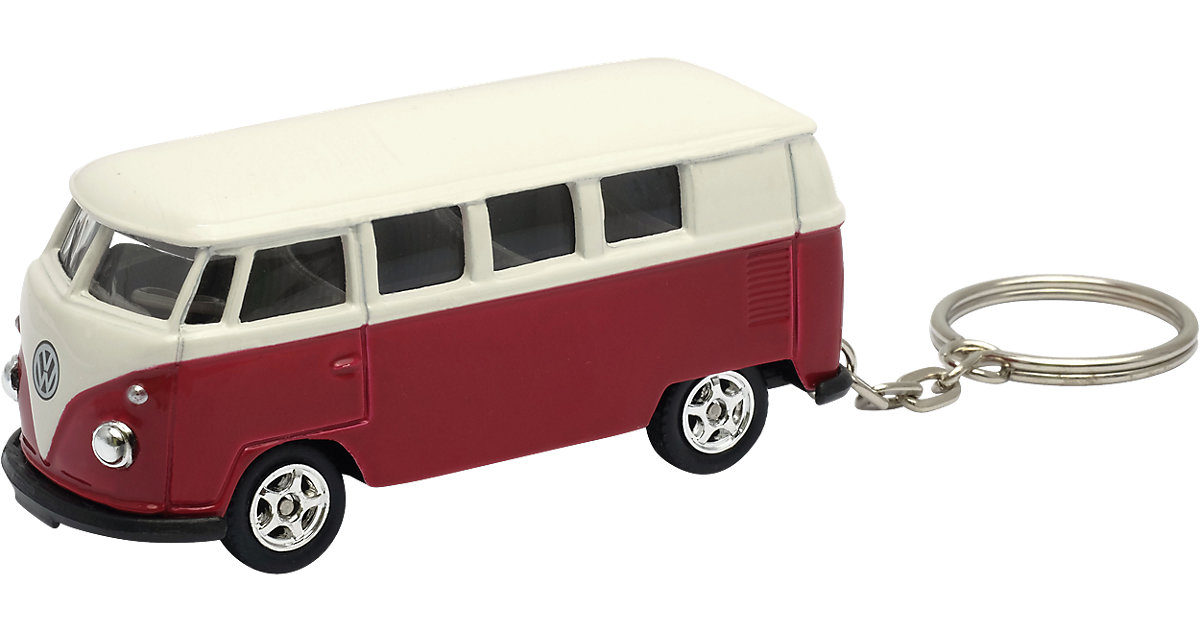 Schlüsselanhänger Bulli VW T1 rot/weiß