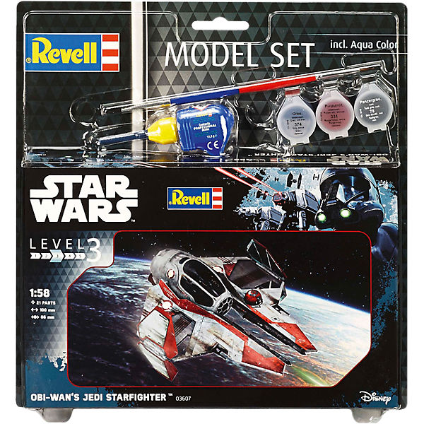 Revell Modellbausatz - Model Set Star Wars Obi Wan's Jedi Starfighter