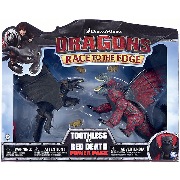 Dragons - Deluxe Dragons Legends Battle Pack - Ohnezahn & der rote Tod