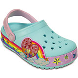 Сабо CrocsLights Rainbow Heart Clog для девочки Crocs