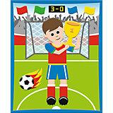 "3D Moosgummi-Bild, ""Fußballer"""
