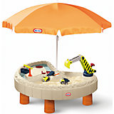 Стол-песочница с зонтом и зоной для воды, Little Tikes