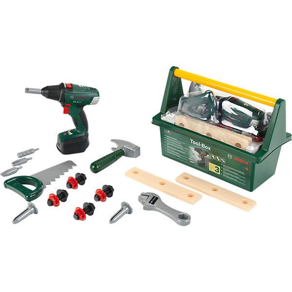 klein bosch tool box mit akkuschrauber klein mytoys. Black Bedroom Furniture Sets. Home Design Ideas