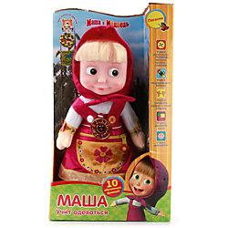"""Мягкая игрушка """"Маша учит одеваться"""", 30 см, со звуком, Маша и Медведь, МУЛЬТИ-ПУЛЬТИ"""