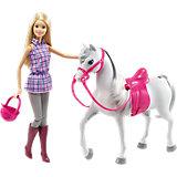 """Набор с куклой Barbie """"Барби и лошадь"""""""