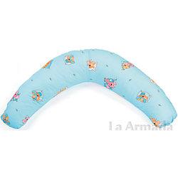 """Подушка для беременных """"Аура"""" 190х37 Сладкий сон, La Armada, голубой"""