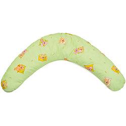 "Подушка для беременных ""Аура"" 190х37 Сладкий сон c холлофайбером, La Armada, зеленый"