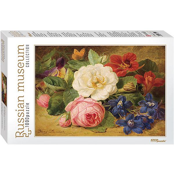 """Пазл """"Букет цветов с улиткой"""", 1000 деталей, Step Puzzle"""